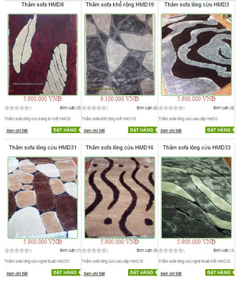 Các loại thảm trải sàn hiện nay