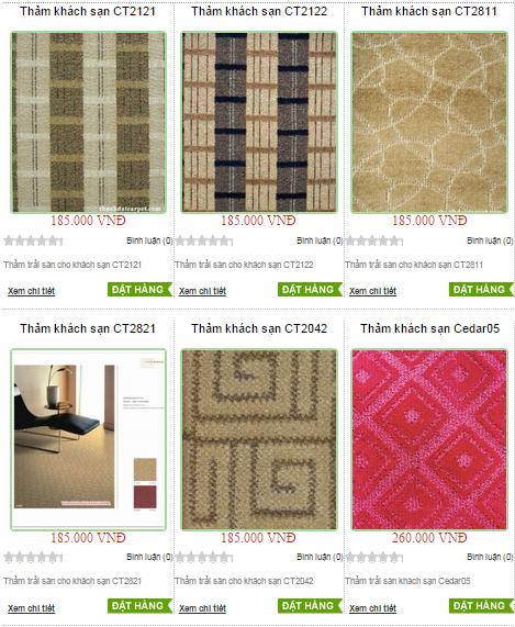 Các loại thảm trải sàn