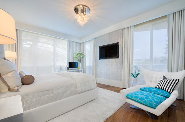 Nhẹ nhàng với sắc rèm trắng trong từng không gian