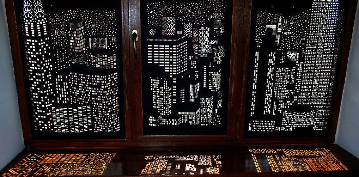 Mới lạ với rèm đục lỗ treo cửa sổ làm đẹp không gian