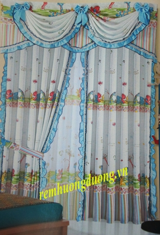 Rèm vải phòng trẻ em tại Ba Đình